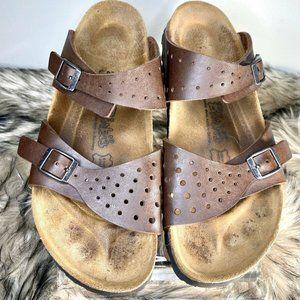 Birki's Freeport Brown Birko Flor2 Strap Sandals 9